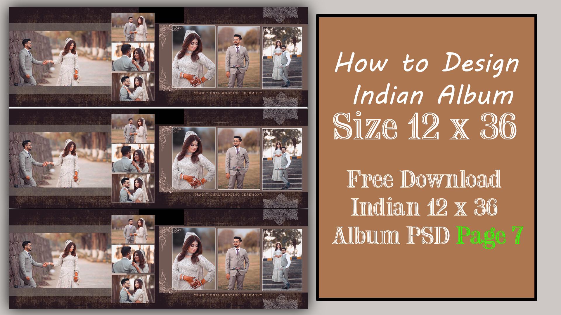 Wedding album design psd free download 12x36 2021