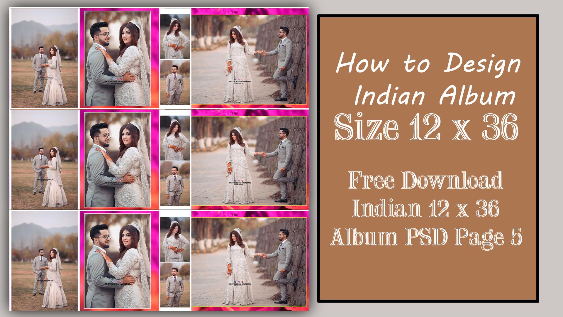 Wedding album design PSD free download Free Albums